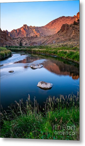 The Crooked River Runs Through Smith Rock State Park  Metal Print