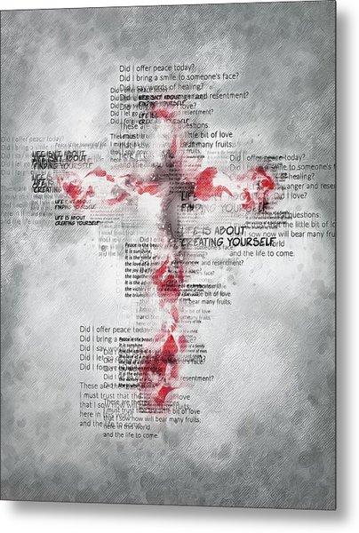 The Cross Speaks Metal Print