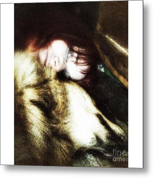 The Cuddle  #petstagram #gsd Metal Print