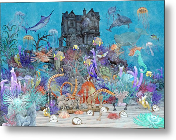 The Curious Place Topsail Island Metal Print