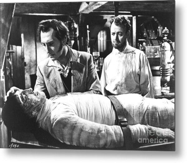 The Curse Of Frankenstein 1957 Baron Victor Frankenstein Metal Print