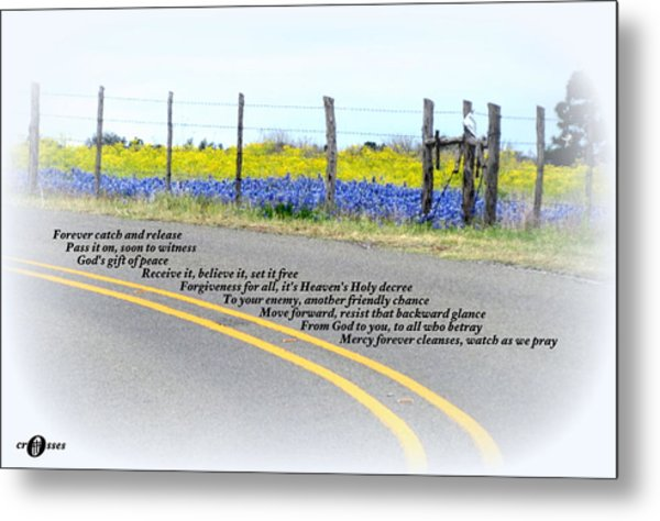 Freedom Around The Bend Metal Print by David  Norman