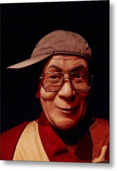 The Dali Lama Wearing My Hat Metal Print