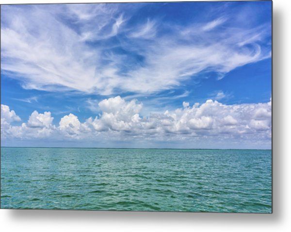 The Dance Of Clouds On The Sea Metal Print