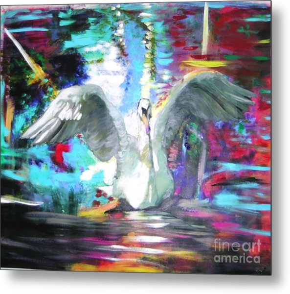 The Dance Of The Swan Metal Print