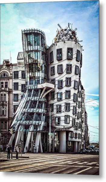 The Dancing House Metal Print