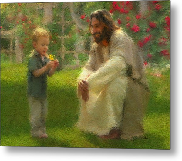 Metal Print featuring the painting The Dandelion by Greg Olsen