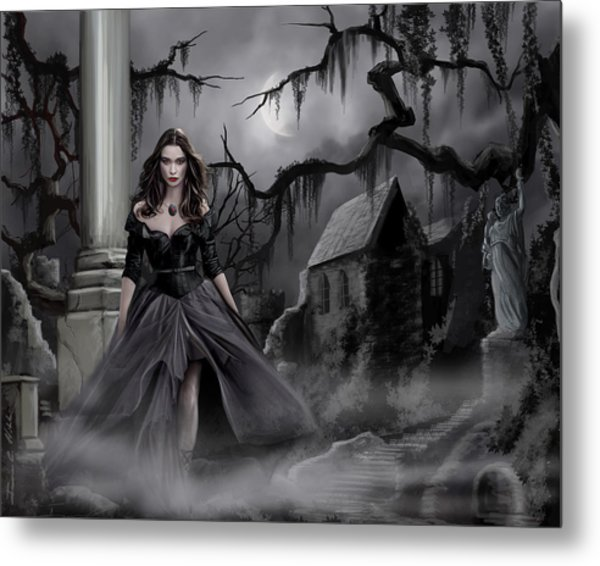 The Dark Caster Comes Metal Print