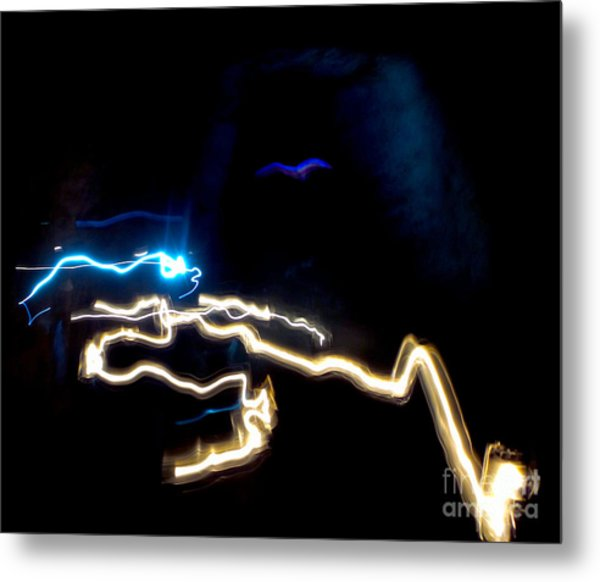 The Dark Cave Metal Print