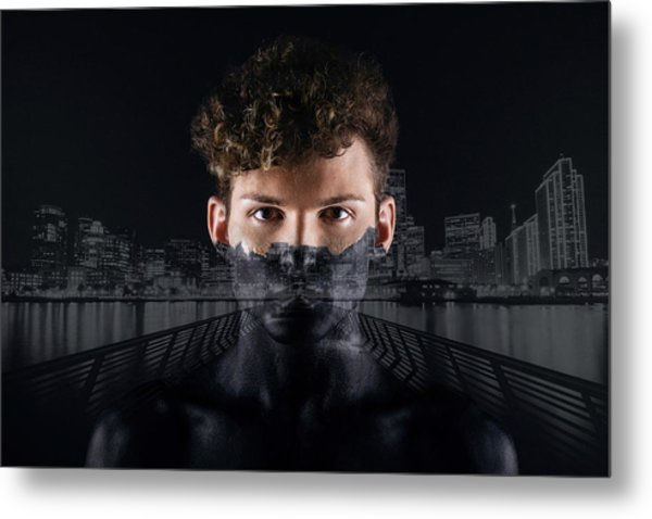 The Dark Side Of A City Boy Metal Print