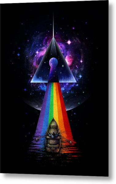 The Dark Side Of The Mystery Metal Print
