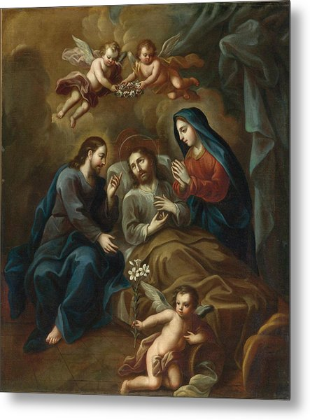 The Death Of Saint Joseph Metal Print