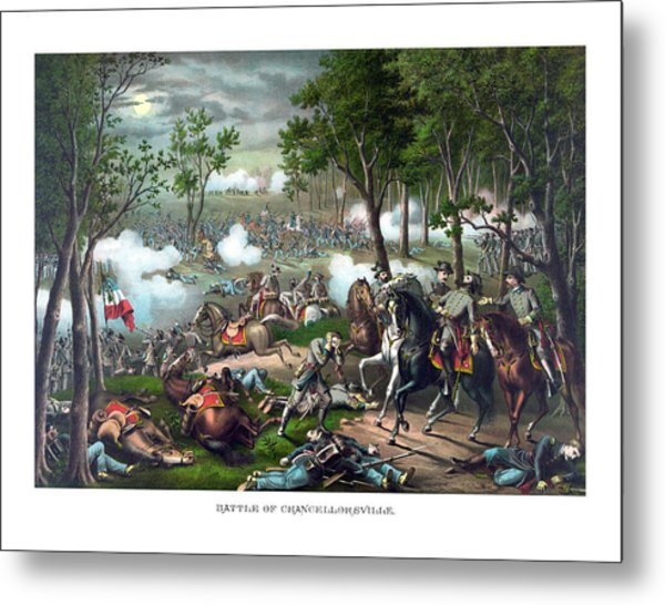 The Death Of Stonewall Jackson Metal Print