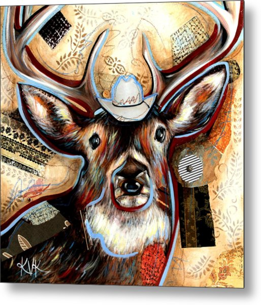 The Deer Metal Print