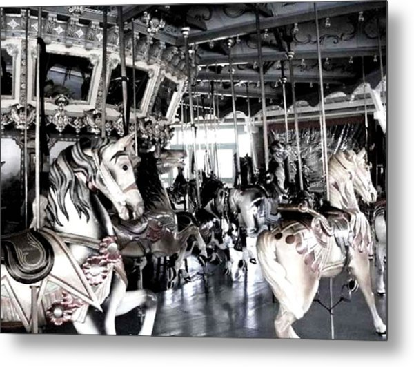 The Dentzel Carousel - Glen Echo Park Metal Print