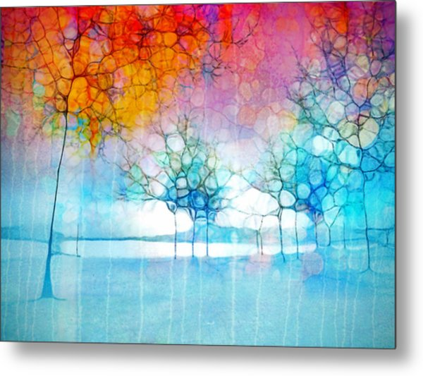 The Departing Trees Metal Print