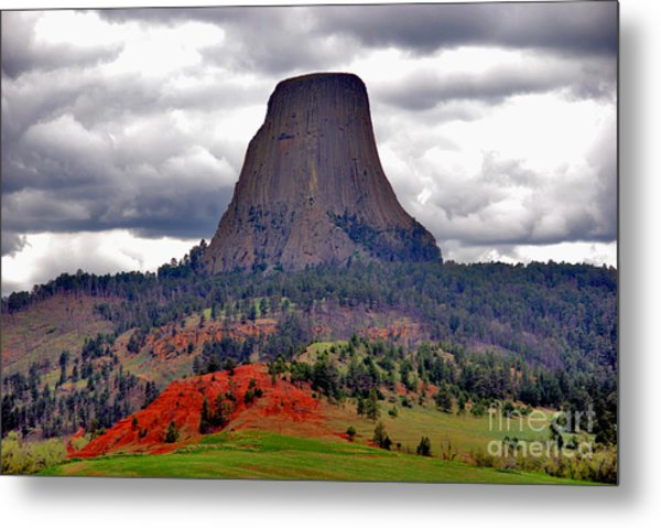 The Devils Tower Wy Metal Print