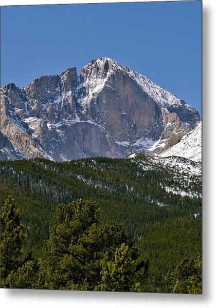The Diamond On Longs Peak In Rocky Mountain National Park Colorado Metal Print