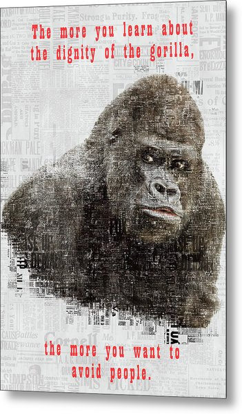 The Dignity Of A Gorilla Metal Print