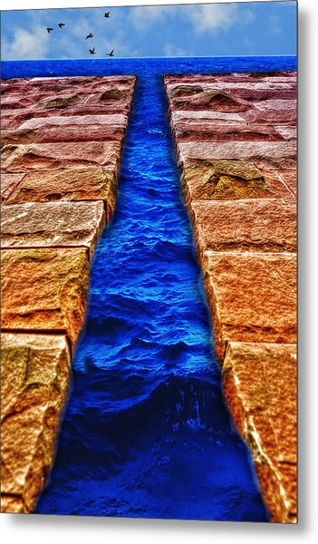 Metal Print featuring the photograph The Divide by Paul Wear