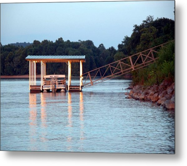 The Dock Metal Print by Michael Morrison