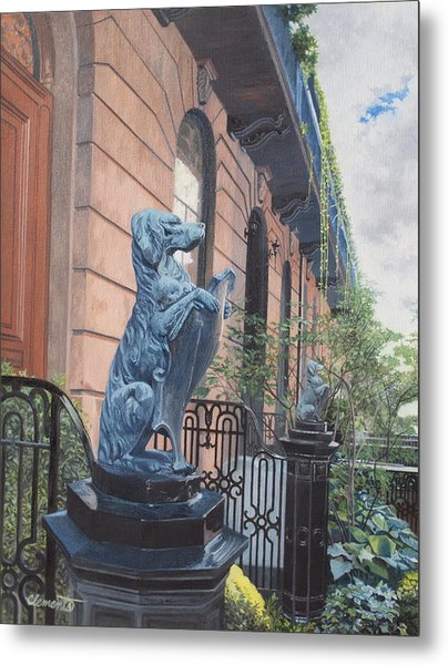 The Dogs On West Tenth Street, New York, Ny  Metal Print
