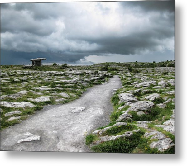 Metal Print featuring the photograph The Dolmen In The Burren by Menega Sabidussi
