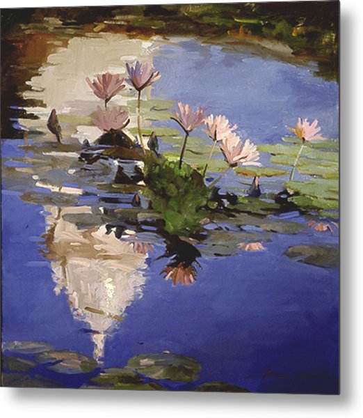 The Dome - Water Lilies Metal Print