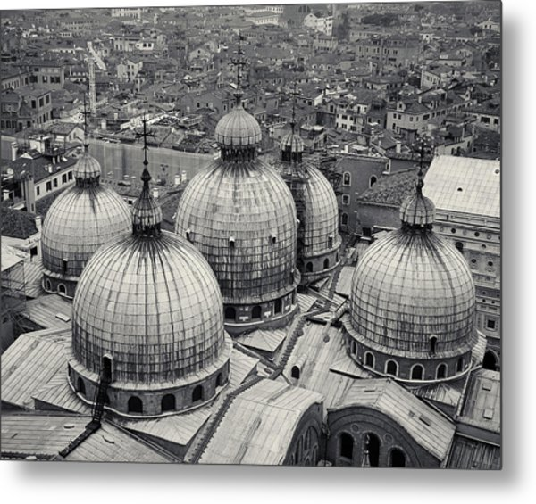 The Domes Of San Marco, Venice, Italy Metal Print