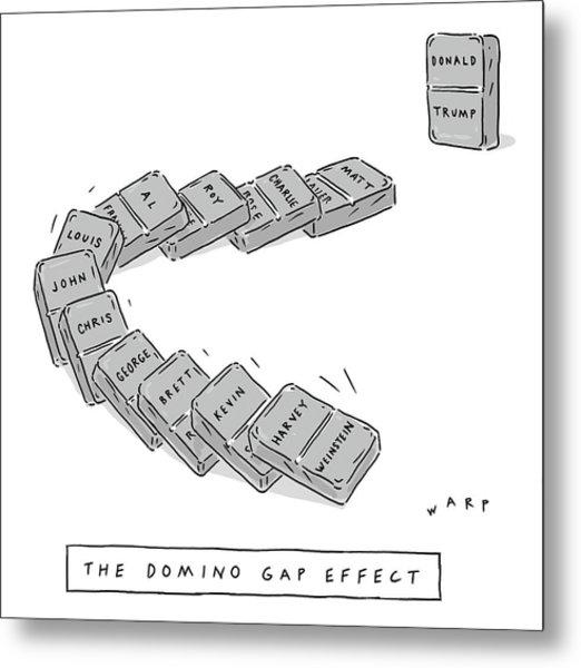 The Domino Gap Effect Metal Print