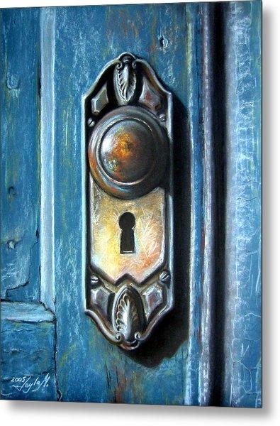 The Door Knob Metal Print