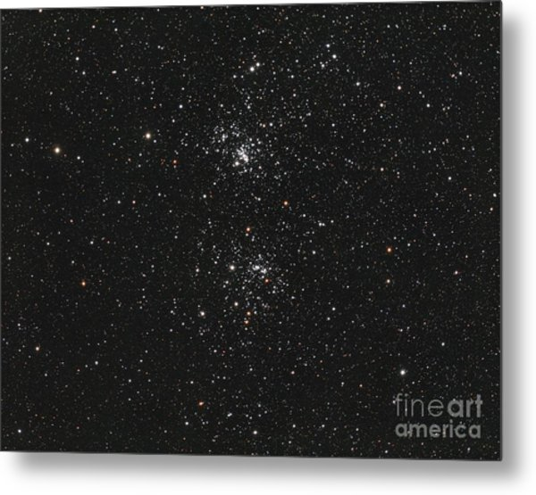 The Double Cluster Metal Print