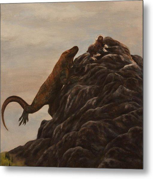 The Dragon And The Ox Metal Print