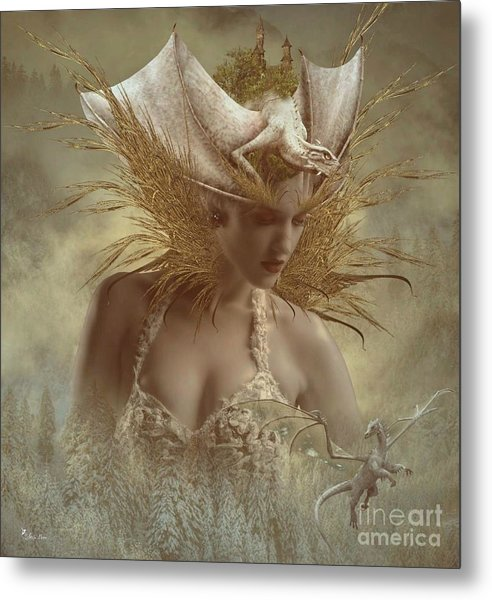 The Dragon Keeper Metal Print