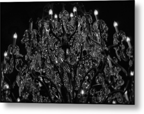 The Drake Chandelier Metal Print