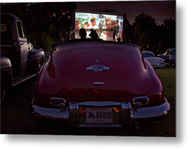 The Drive- In Metal Print