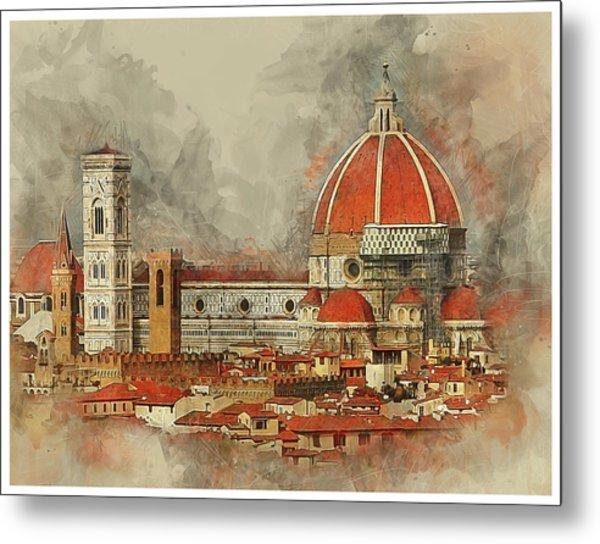 The Duomo Florence Metal Print