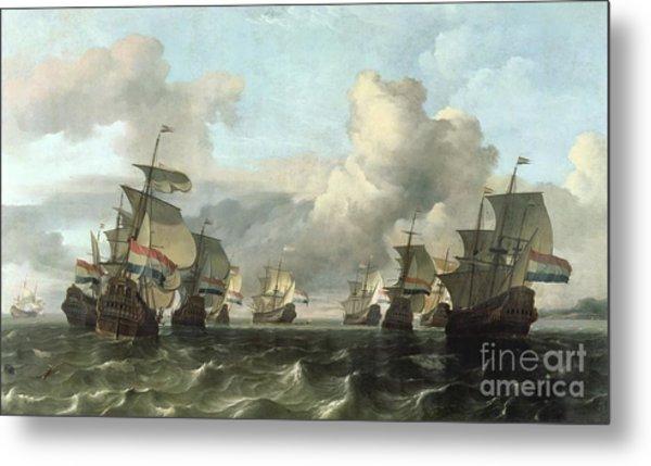 The Dutch Fleet Of The India Company Metal Print
