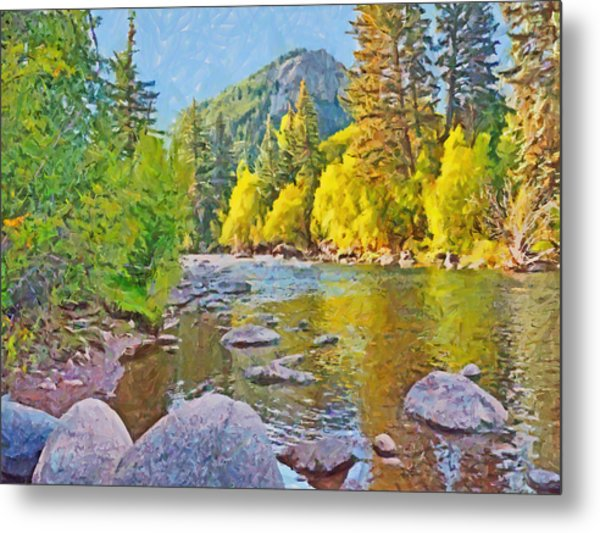 The Eagle River In October Metal Print