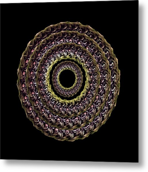 The Earthtone Infinity Of Rose Metal Print by Jacqueline Migell