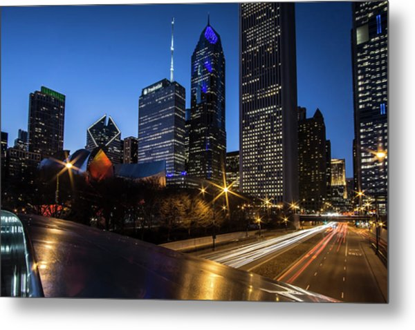 The East Side Skyline Of Chicago  Metal Print