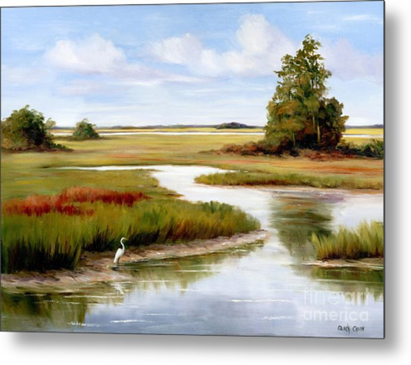 The Egrets World Metal Print