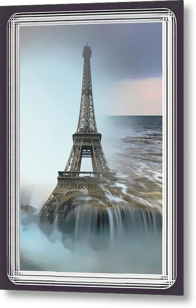The Eiffel Tower In Montage Metal Print