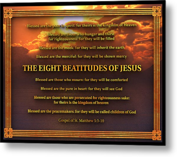 The Eight Beatitudes Of Jesus Metal Print