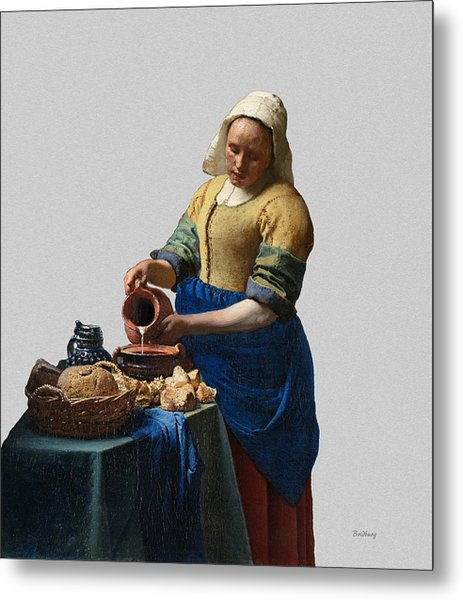 Metal Print featuring the painting The Elegance Of The Kitchen Maid by David Bridburg