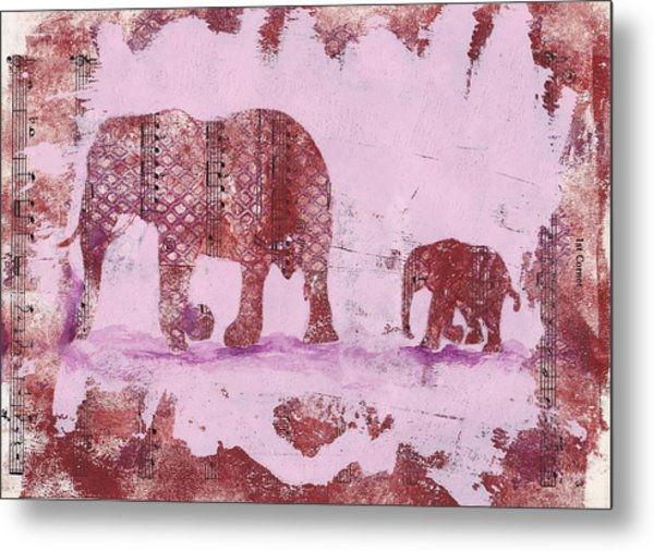 The Elephant March Metal Print