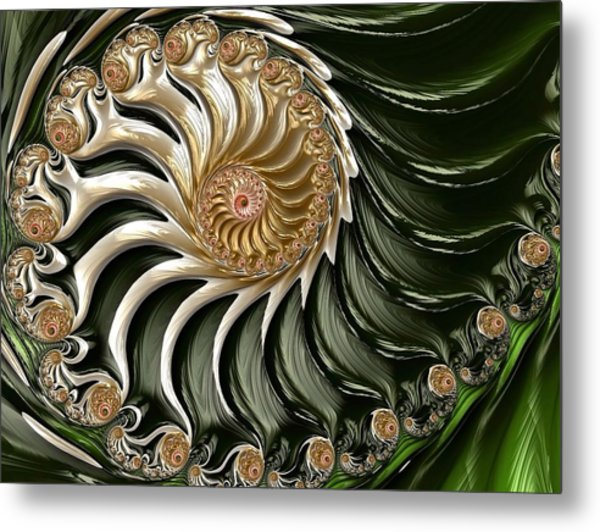 The Emerald Queen's Nautilus Metal Print