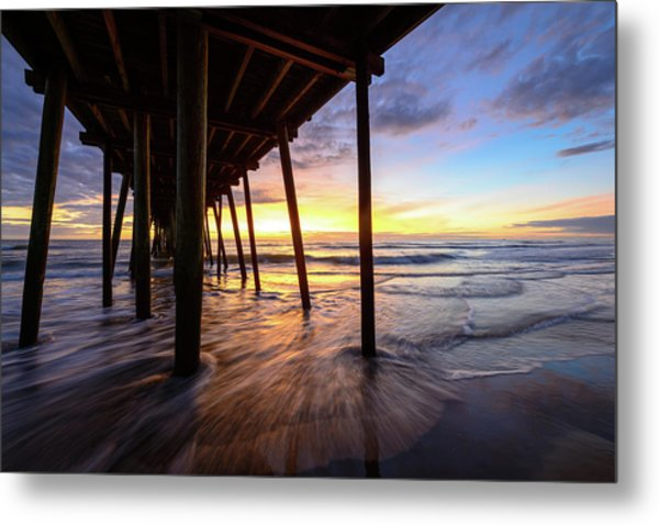 The Enchanted Pier Metal Print