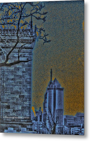 The Encroachment Upon Art Metal Print