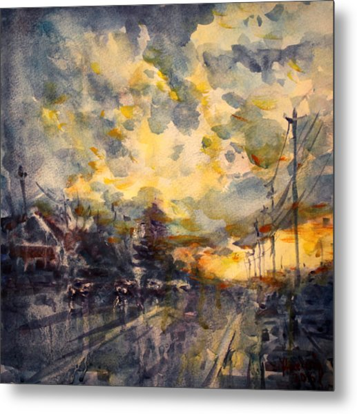The End Of A Beautiful Day Metal Print